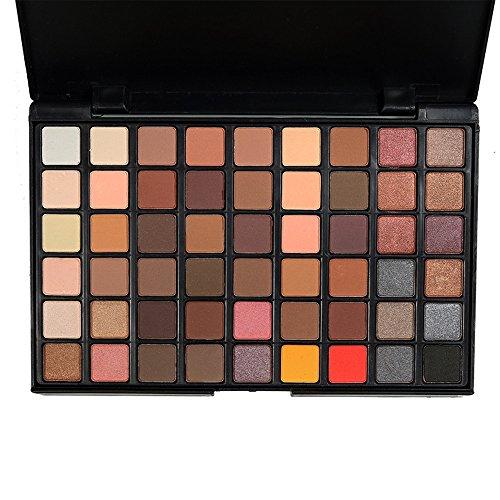 Fards à paupières,54 couleurs poudre Eyeshadow Palette Mat naturel miroitement-Lonshell (A)