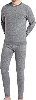 LCYCN Men Warm Long Sleeve Shirt And Long Johns,Thermal Performance Underwear Set for Men,Base Layer with Soft Fleece Patc...