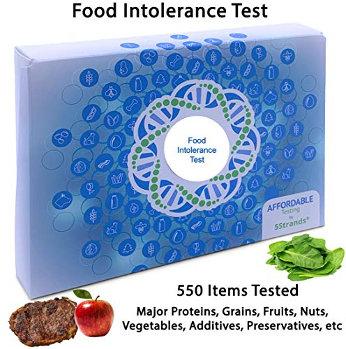 5Strands | Food Intolerance Test | Affordable Testing | at Home Hair Analysis Kit | Tests 550 Items | Protein, Gluten, Soy, Lactose, Preservatives, | Results 7-10 Days