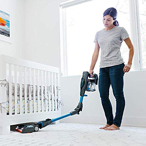 Shark ION Lightweight Cordless Stick MultiFLEX, DuoClean for Carpet & Hardfloor, Hand Vacuum Mode, and (2 40min) Removable Batteries (UF280), F80 Blue