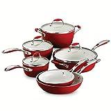 Tramontina 80110/202DS Gourmet Ceramica Deluxe Cookware Set, PFOA- PTFE- Lead and Cadmium-Free...
