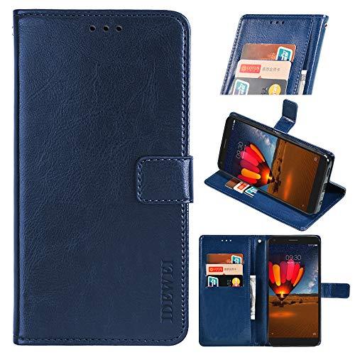 BellaHülle Cubot C20 Handyhülle Hülle Leder Flip Hülle [Kartenfach] [Standfunktion] [Magnetschnalle] Wallet Cover für Cubot C20 Smartphone(Dunkelblau)