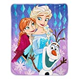 Disney 40' x 50' Frozen Diamond Dazzle Reversible Silk Touch Throw Blanket, Multicolor
