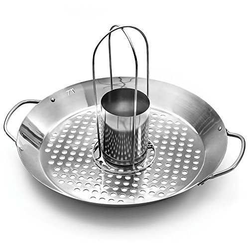 Outset QS70 Square Grill Wok, Stainless Steel
