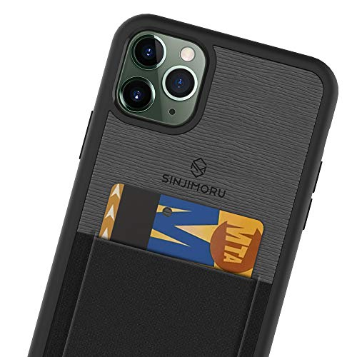 Sinjimoru - Funda para iPhone 11 Pro MAX con Billetera Fina, Funda Protectora de TPU con Tarjetero para la Parte Posterior del móvil - Negra.
