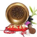 Bol Tibétain Artisanal Fabriqué au Népal + E-Book - Inclus : Bol Tibétain, Coussin, Maillet en bois, Boite Lokta - Cadeau Parfait [Satisfait ou Remboursé]