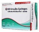 BD Ultra-Fine Insulin Syringes, 30 Gauge 1 cc 1/2' Box of 90