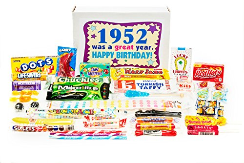 Woodstock Candy ~ 1952 68th Birthday Gift Box Nostalgic Retro Candy Mix from Childhood for 68 Year Old Man or Woman Born 1952 Jr