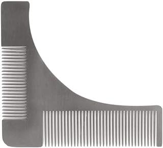 sdfghzsedfgsdfg Rostfritt stål skägg trimning kam formande stylingmall herrar skäggtrimmer verktyg för kindkäken mustasch