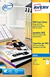 Avery Italia J8437-25 Copertine Universali per DVD, Stampanti Inkjet, 25 Fogli, 265 x 183, Bianco