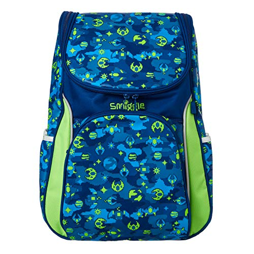 Smiggle Seek Reflective Access School Backpack for Boys & Girls with Laptop Compartment | Games Print