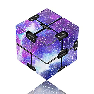 Yomiie Infinity Cube Fidget Toy for Adults and Kids, Fidget Finger Toy Stress and Anxiety Relief, Killing Time Unique Idea Cool Mini Gadget for ADD/ADHD/OCD from Yomiie