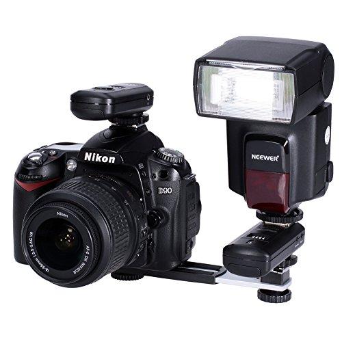 Neewer 16CM Flash Staffa Singola di Estensione con Cold Shoe Attacco per Fotocamera e Cold Shoe per Flash Compatibile con Nikon Canon Videocamera Sony Olympus DSLR Videocamera DV