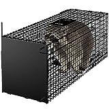 Amagabeli Piège vivant 78x26x29cm Piège animalier comme grand piège à martre Piège à chat...