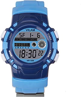 Kid Watch Sport Waterproof Multi Function Digital Wristwatch for Boy Girl Children Gift Outdoor Kids Digital Sport Watch with 7 Colorful LED Lights and Detachable Watchband