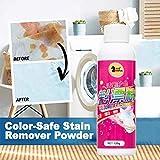 ACEBABY Quitamanchas Ropa Universal Color Decolorante Quitamanchas Blanqueador en Polvo Blanqueador Detergente - 120g (A)