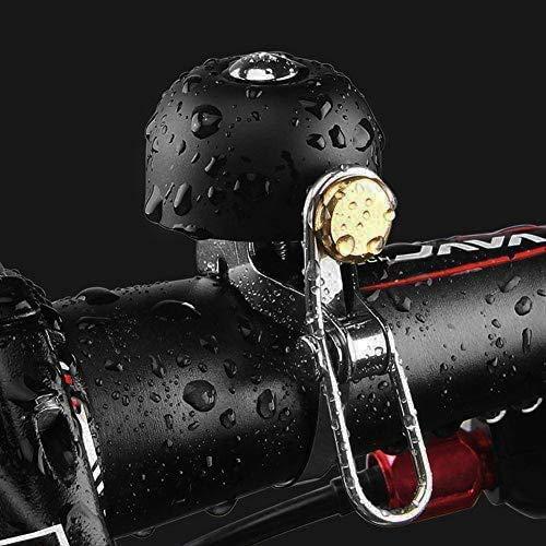 Qsnn Fahrradklingel Laut, Retro Vintage Mini Fahrradglocke Classic Kleine Klingel Fahrrad Zubehör, Kinder Erwachsene Brass Bike Bell für Rennrad Mountainbike Hupe, Schwarz (Lenker Ring 22-36mm)