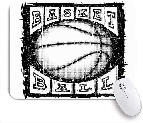 FAKAINU Gaming-Mauspad,Basketball Ball Inschrift Aktion Sport Erholung Athlet Attack Baller Basket Champion Shot,Rutschfest Verschleißfestes Und Haltbares Gummi,Mousepad Für Bürocomputer,9.5