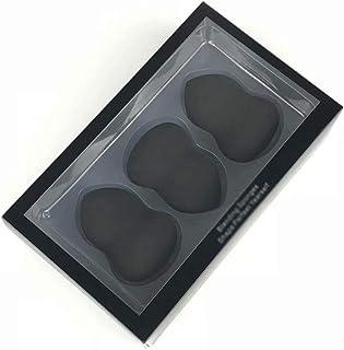 3-delige make-upspons Beauty-blenderset en poederdonsjes, droog en nat gebruik, zwart