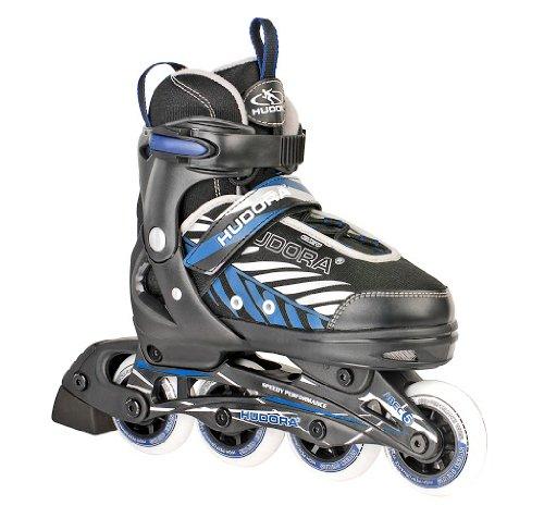 HUDORA Kinder Inliner Leon - Gr. 37 - 40, schwarz/blau - Inline-Skates - 28240