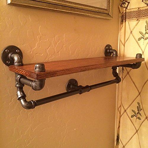 INTASHJ muur decoraties LOFT industriële wind WC smeedijzeren muren handdoek rekken badkamer massief hout plank planken