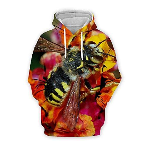 yyqx container 3D Sweatshirt Hoodie Bee 3D Hoodies Unisex All-Over Gedrukt Grappige Lange Mouw Trui met Kangoeroe Pocket Hoody Sweat Sweatshirts