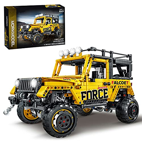 WWEI Técnica todoterreno Auto bloques de construcción, 4 x 4, Monster Truck Off-Roader, 1607 bloques de construcción compatible con Lego