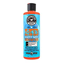 Removes water spot stains from paint, glass, metal and more Neutralizes water spot stains for effortless removal Permanently removes stuck-on water spots in seconds Prepares surface for wax protection against future spots