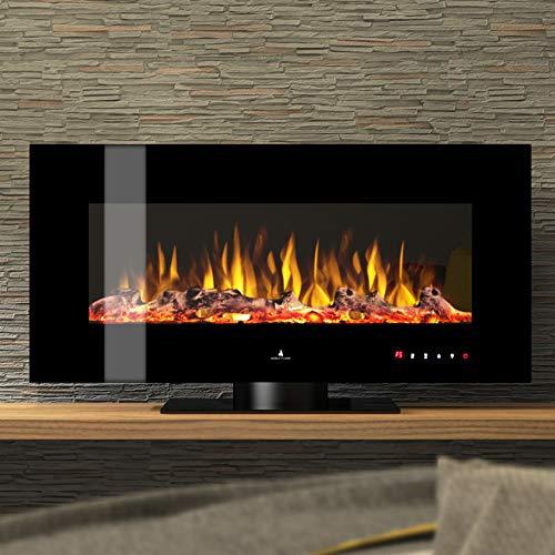 Noble Flame Vegas 1070 - elektrische open haard staande haard kachel - afstandsbediening - verschillende breedtes - zwart
