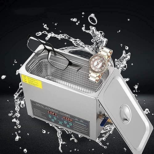 6L Ultraschallreiniger Edelstahl Ultraschallreinigungsgerät Reinigungsgeräte Ultraschallreiniger Reinigung Ultrasonic Cleaner mit Heizung Digital Timer für Brillen Schmuck Zahnprothesen Münzen