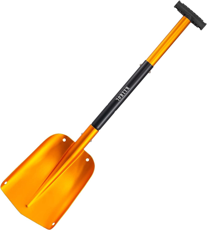 YOHEER Aluminum Utility Max 49% OFF Opening large release sale Shovel 3 Snow Sections Shove Detachable