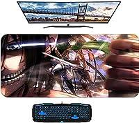 タイタンマウスパッドアニメ700x400x3mmカスタムマウスパッドゲームパッド自由の翼への攻撃-A_1200X600mm