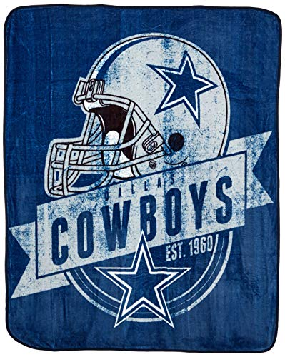 The Northwest Company NFL Dallas Cowboys 'Grand Stand' Raschel Throw Blanket, 50' x 60' , Blue