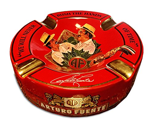 Limited Edition Large 8.75' Arturo Fuente Porcelain Cigar Ashtray Red