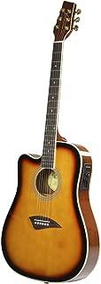 Kona K2LTSB Left-Handed Acoustic Electric Dreadnought Cutaway Guitar in Tobacco Sunburst Finish