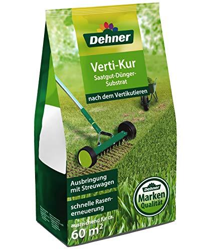 Dehner Rasen Vertikur 3-in-1, Saatgut, Dünger und Substrat, 2 kg, für ca. 60 qm