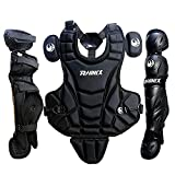 PHINIX Catcher Chest Protector and Leg Guards.Recommended for Ages 9-12 (Black)