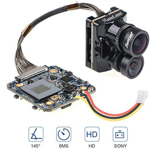 RunCam Cámara híbrida FPV 145 Grados Gran Angular 4K HD Dual Lente de grabación FPV cámara 6 ms latencia para dron de Carreras