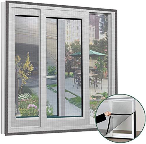 ANQI - Mosquitera de seguridad para gatos, resistente para ventana, protección de gatos, mosquitera transparente para insectos, tamaño DIY, con cintas autoadhesivas, color negro