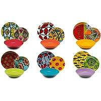 Excelsa Afrika - Vajilla de 18 Piezas, de Porcelana y cerámica, Multicolor
