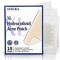 AUSLKA XL痤瘡パック(9本18枚)-茶樹油・水コロイド痤瘡パック。ロングサイズ、超大カバー、ニキビシール。