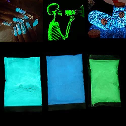 Fluoreszierende Pulver, Pigmente, professionell, phosphoreszierend und ungiftig, Stronzio Aluminato Neon Lichter in dunklen Pigmenten, neon nights Fluoreszierende Stoffmalfarbe Sehr hell(Gelbgrün)