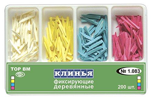 Dental Wooden Wedges of 4 types