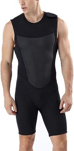 Owenyang Combinaison Homme Full 3mm Combinaison courtey Jumpsuit Premium en néoprène pour Adulte, Pratique à Enfiler Combinaison Thermique de Plongée (Taille   M)