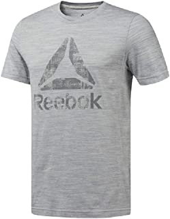 Reebok D94172-M-SKUGRY Sport Tops for Men - Grey, Small