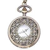 81stgeneration collana per orologio da tasca analogico quarzo mezzo hunter uomo donna ottone, 78 cm