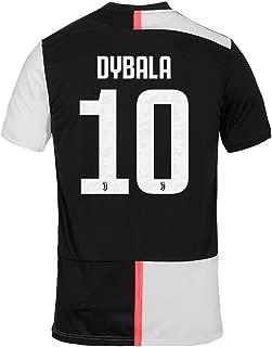 NTauthentic Juventus 10 Dybala Shirt Soccer Shirt for Mens Black/White
