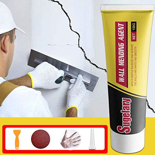 Drywall Patch Repair Kit, Wall Hole Fixing Kit with Scraper, Spackle Wall Repair, Wall Mending Agent Quick Solution to Fill The Holes for Home Wall, Plaster Dent and Wood Scratch Repair(1 Pack)