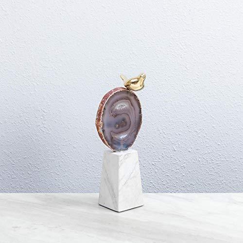 GTBAO Decoracion Escultura Estatuas Decoración Minimalista Moderna del Pájaro Modelo Europeo Sala De Decoración Suave Gabinete De TV Sala De Estar Animal Creativo Muebles Afortunados-B16 * 9 * 26 Cm