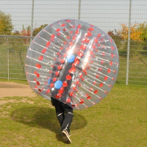 Holleyweb Red Bubble Soccer Ball Dia 5' (1.5m) Human Inflatable Bumper Bubble Balls